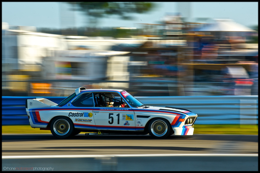 BMW 3.0 CSL, SVRA, sebring, john rhon e, rhone motorsport photography, nikon d700